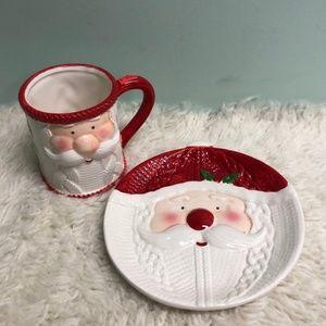 🎄Santa Christmas Plate and Mug Set (PM160)